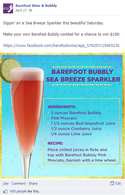 Cheers! Toasting Barefoot Wine's social media marketing success